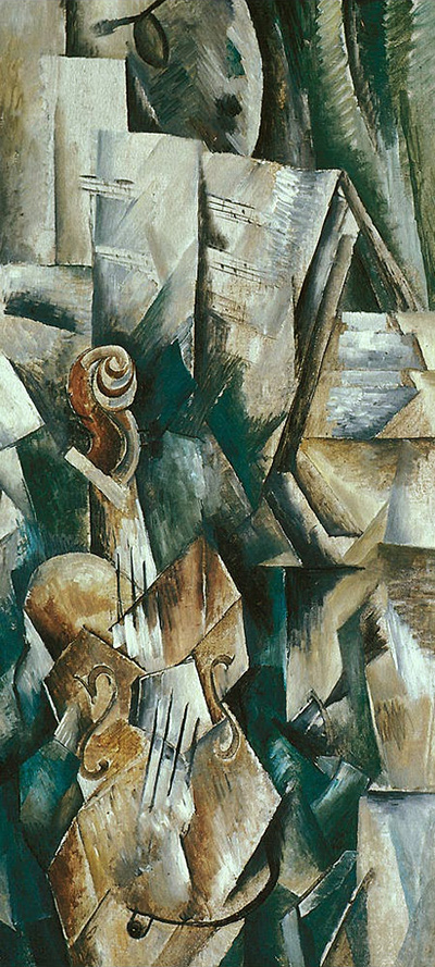 Violin and Palette Georges Braque