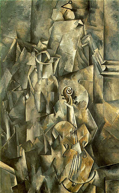 Violin and Pitcher by Georges Braque
